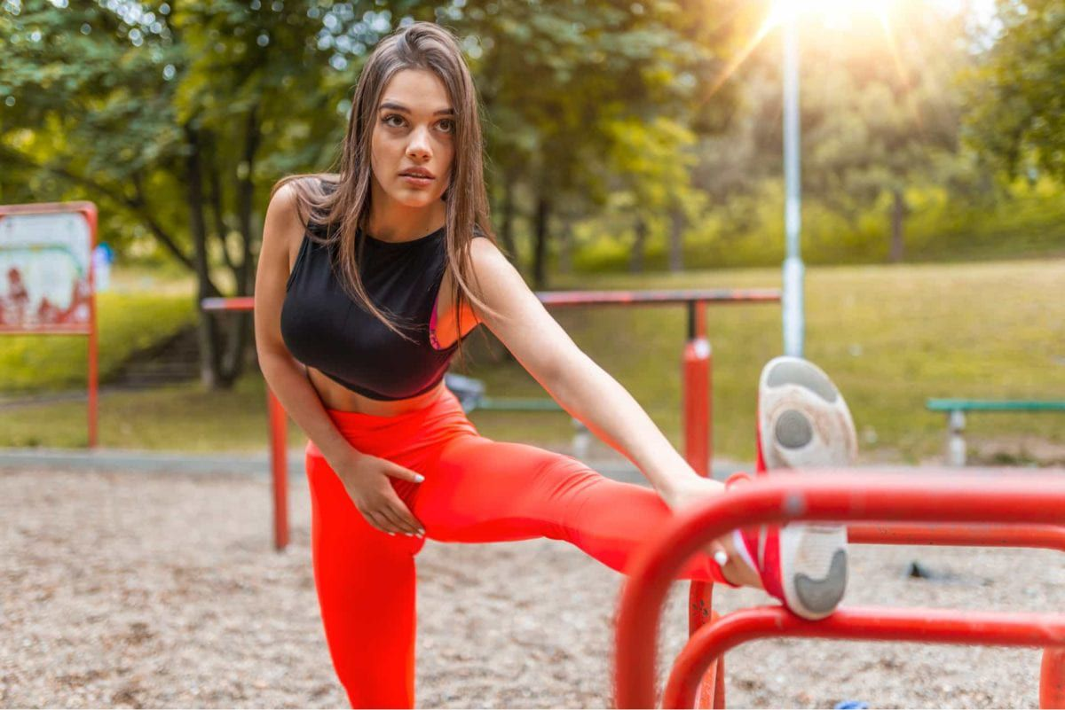 Fitness Female Stretching